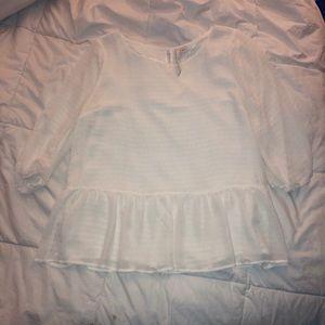 Lauren Conrad: White Long Sleeve Blouse